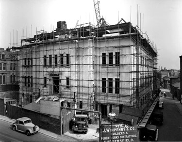 The Constructing of the Huddersfield Public Library and Art Gallery, Princess Alexandra Walk, Huddersfield.