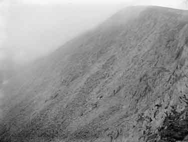 Ascent of Snowdon from Rhyd-ddu, Screes near top